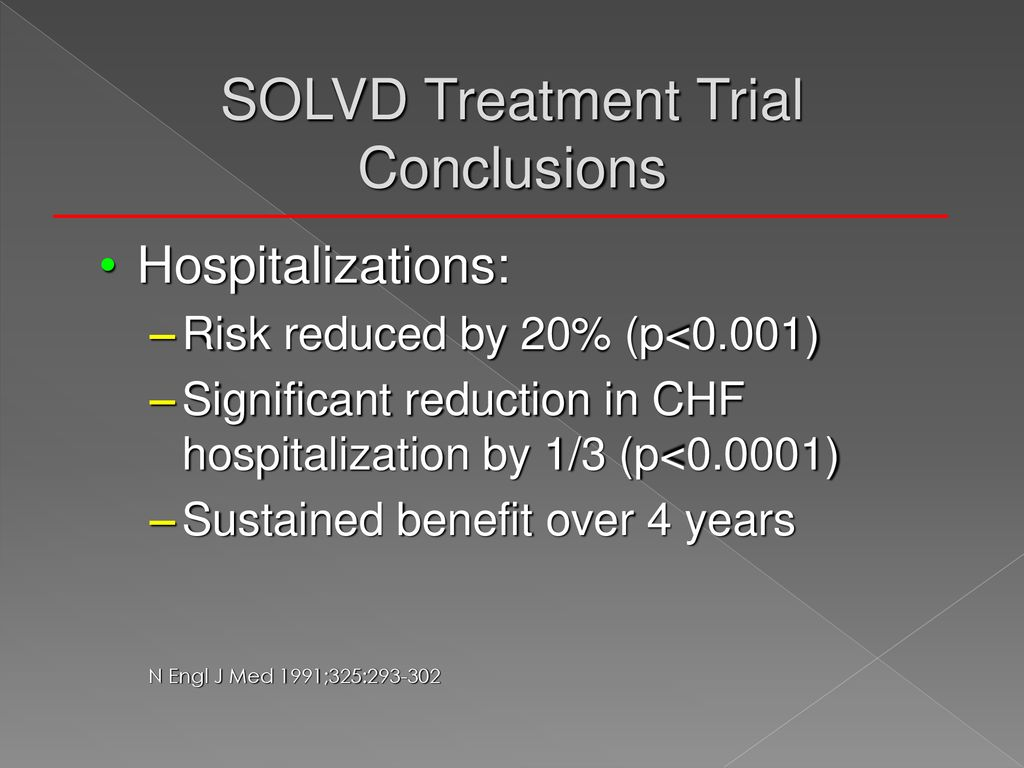 SOLVD Treatment Trial Conclusions