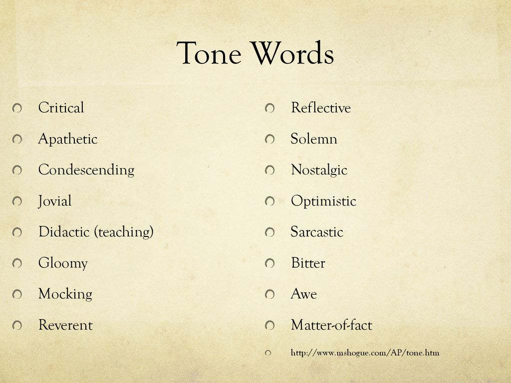 Style, Tone, Mood, and Diction - ppt download