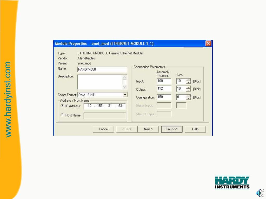Setup Of 4050 EIP To Control LOGIX PLC - ppt download
