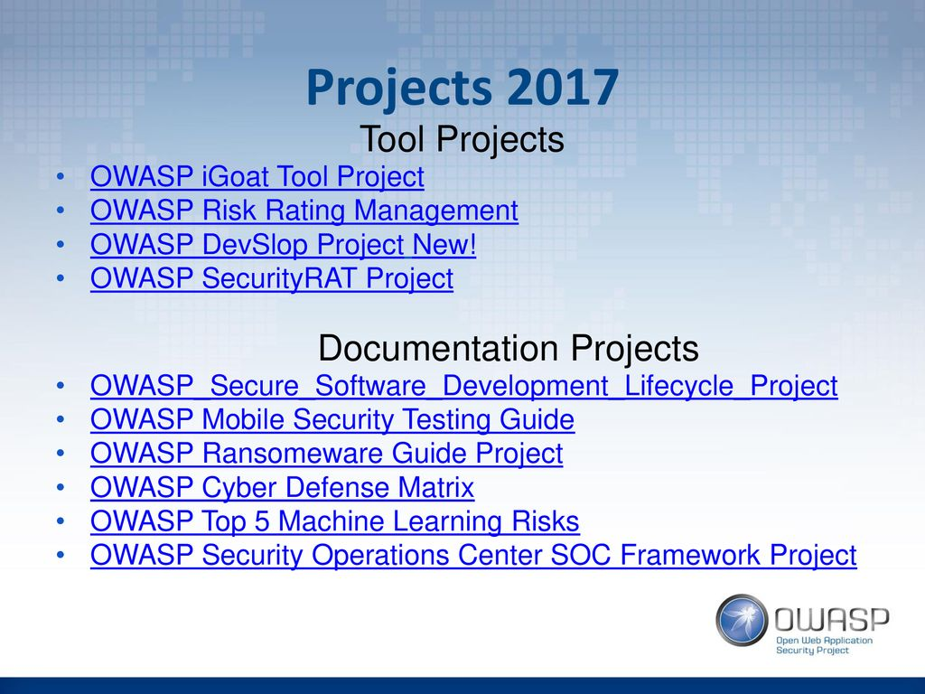 OWASP BOD Meeting 24 January ppt download