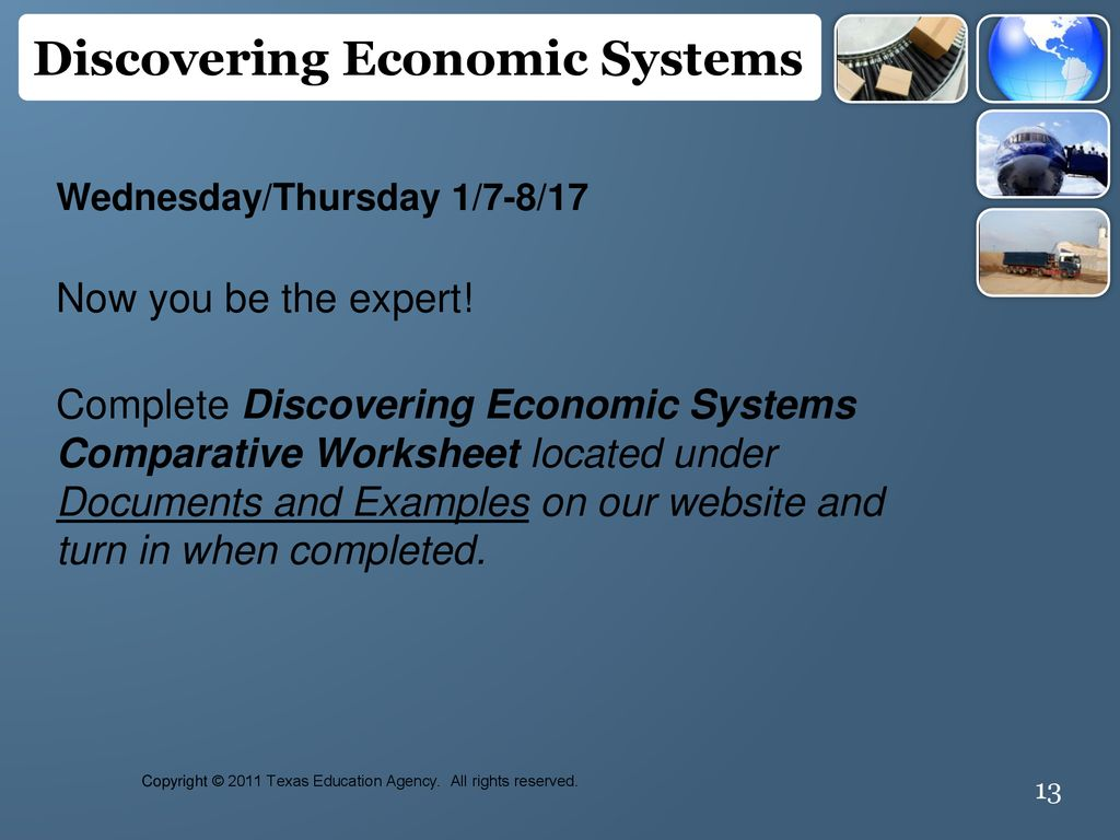 Discovering Economic Systems - ppt download