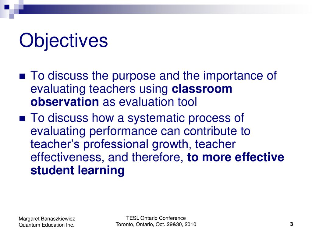 Teacher Performance Evaluation - ppt download