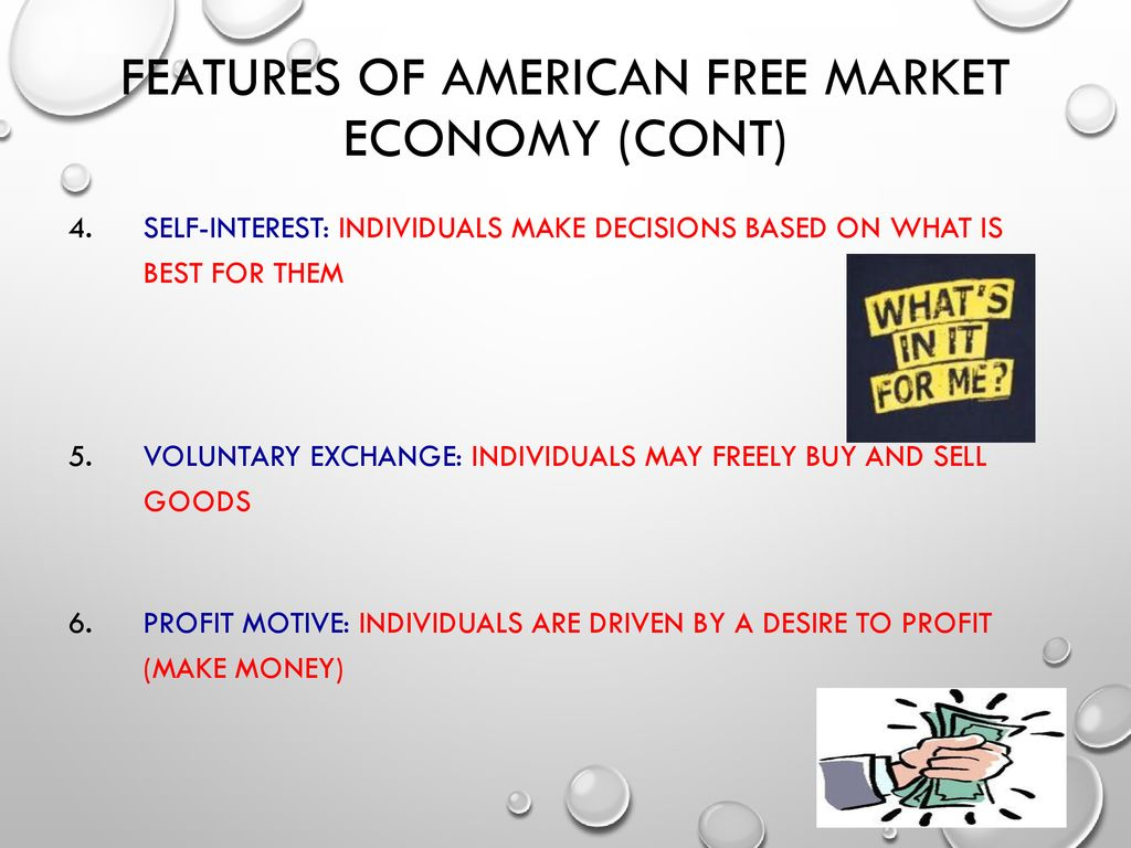 The main features of the free market - the ideal and the unattainable 94