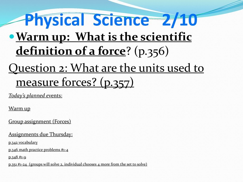 physical science june ppt download