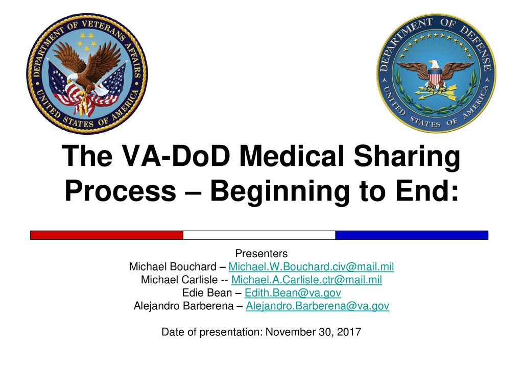 The VA-DoD Medical Sharing Process – Beginning to End: - ppt download