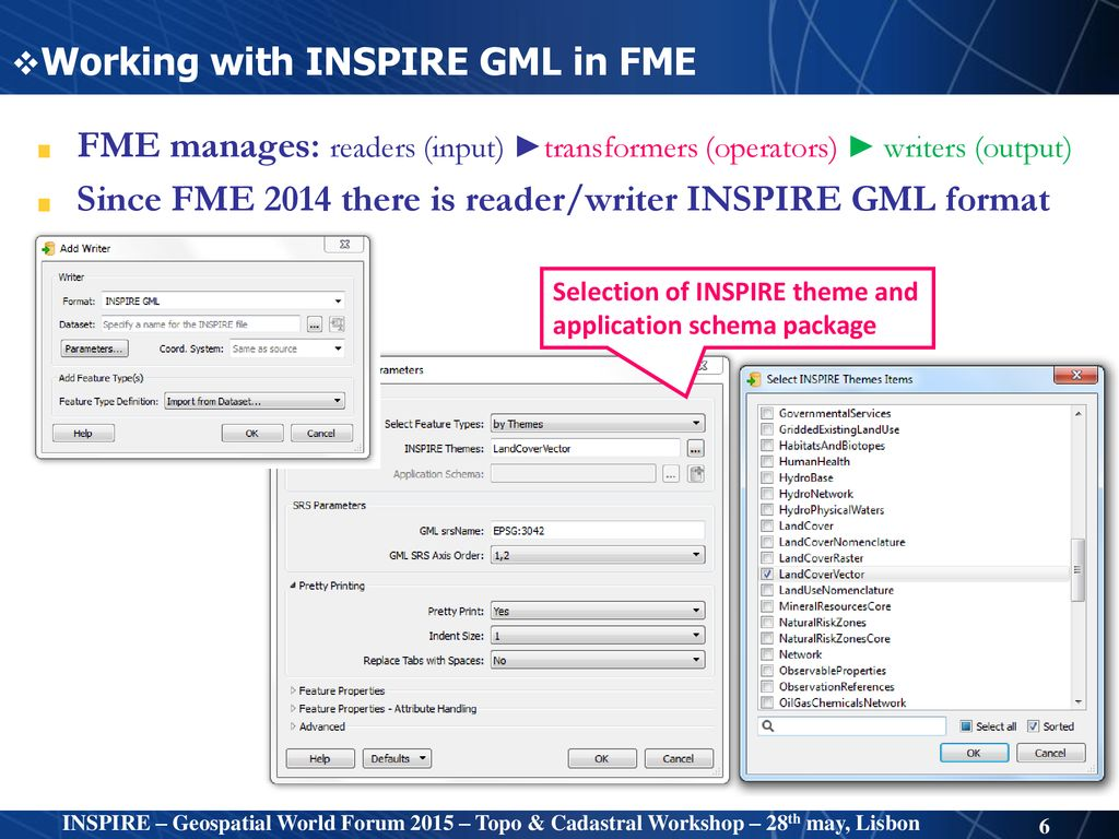 Encoding National OI datasets into INSPIRE specifications