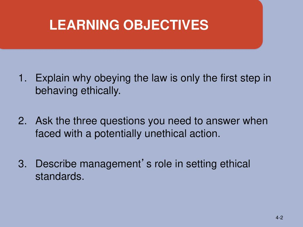 role of ethics in management ppt