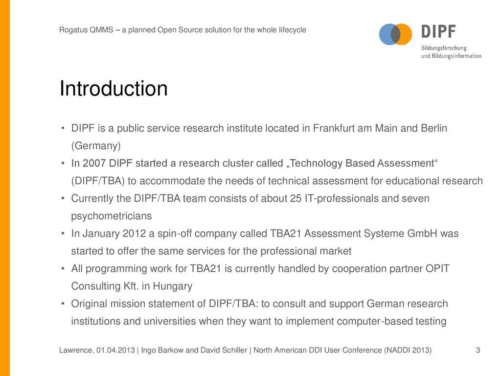 Rogatus - Questionnaire and Metadata Management System - ppt
