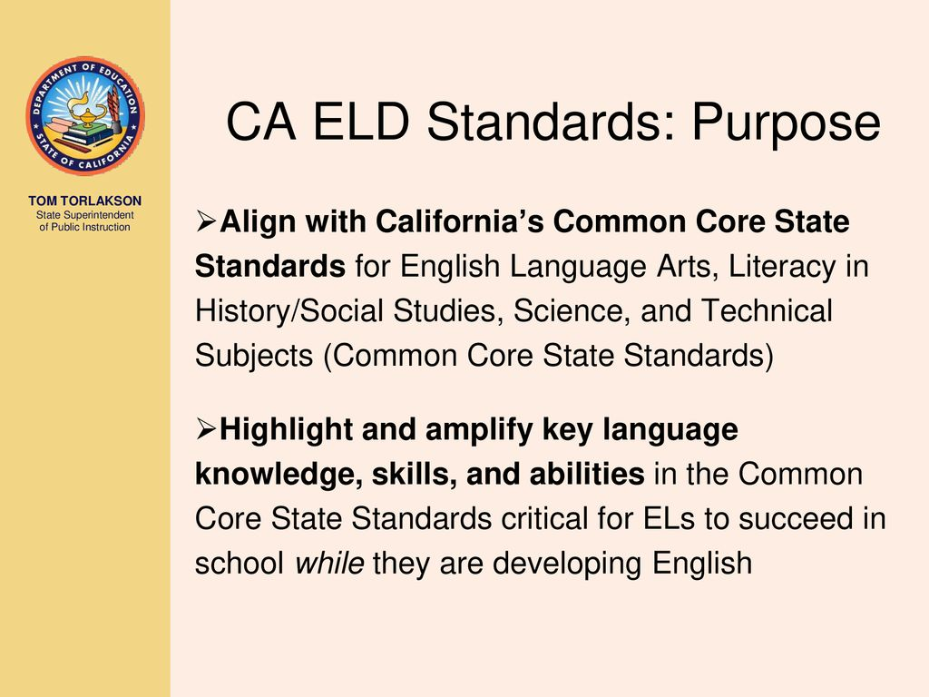 WRG-7916] California Eld Standards Aligned To Common Core