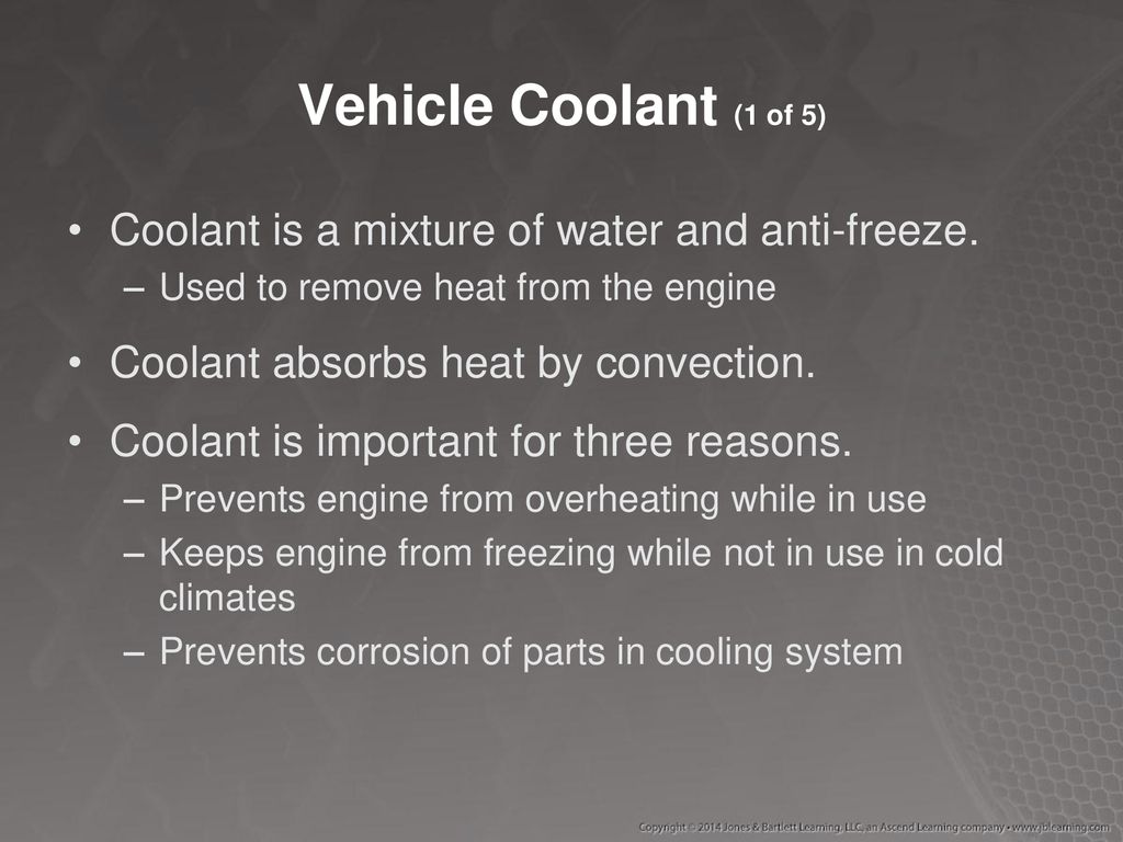 Chapter 46 Engine Cooling Ppt Download Coolant Corrosion Around Vehicle 1 Of 5 Is A Mixture Water And Anti