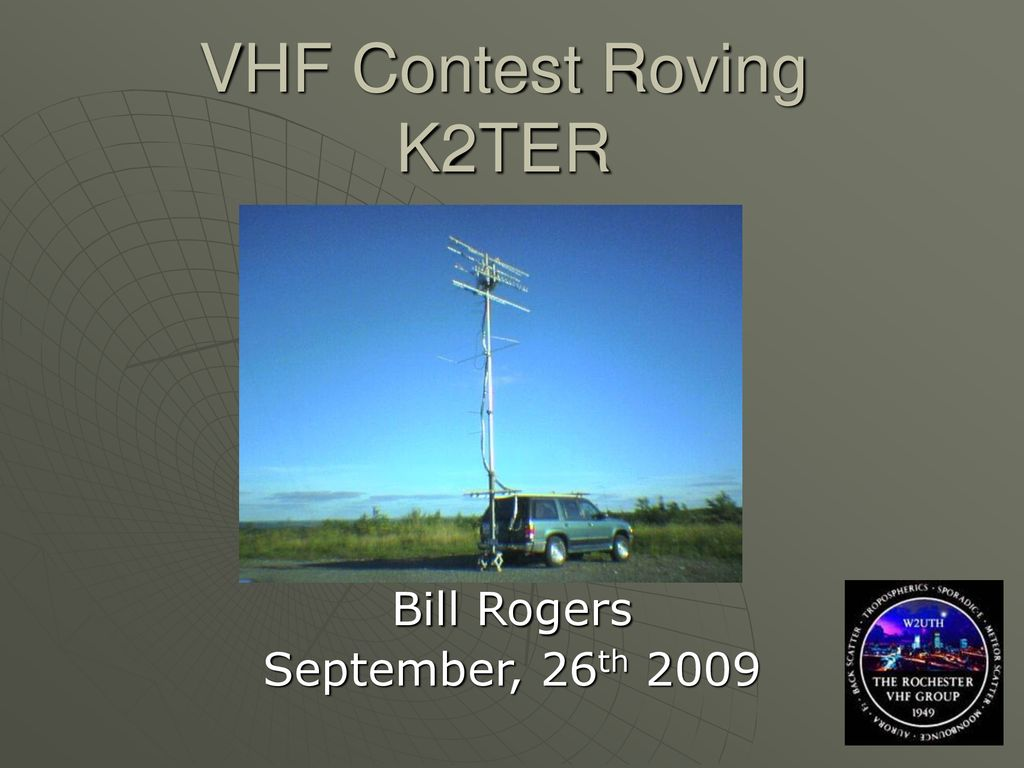 VHF Contest Roving K2TER