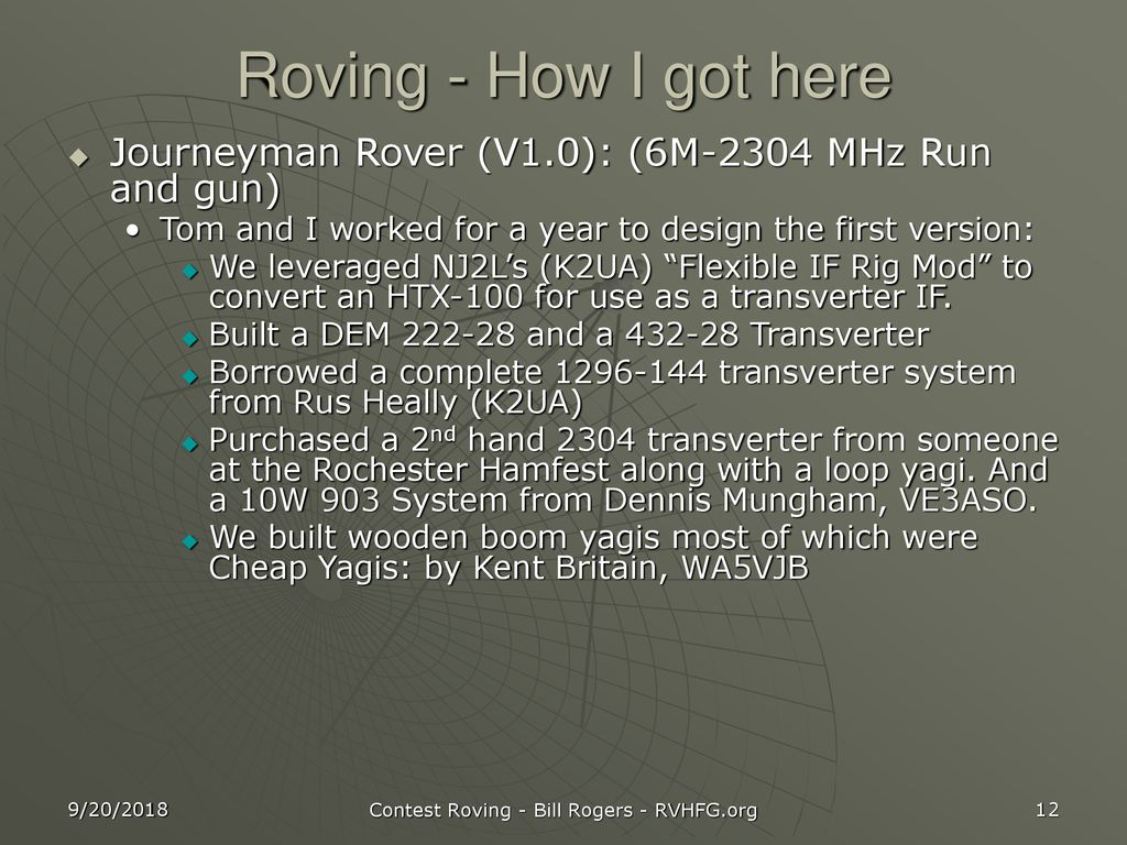 Vhf Contest Roving K2ter Ppt Download 2304 And 3456 Mhz Power Amplifiers 12