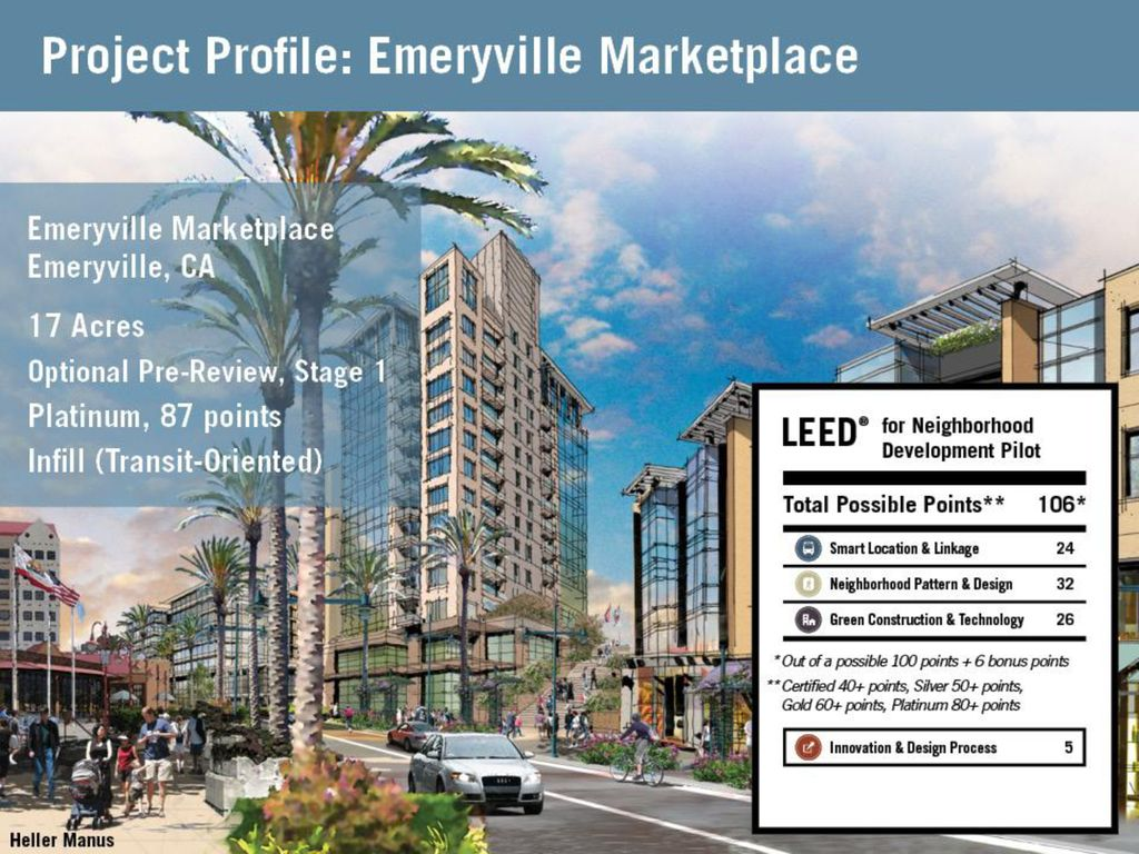 Emeryville Marketplace is a 14-acre mixed-use commercial and