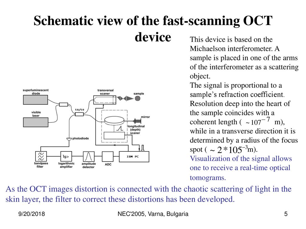 Akishina Elena New Methods For Modeling And Analysis Of Digital Fast Logarithmic Amplifier Schematic View The Scanning Oct Device