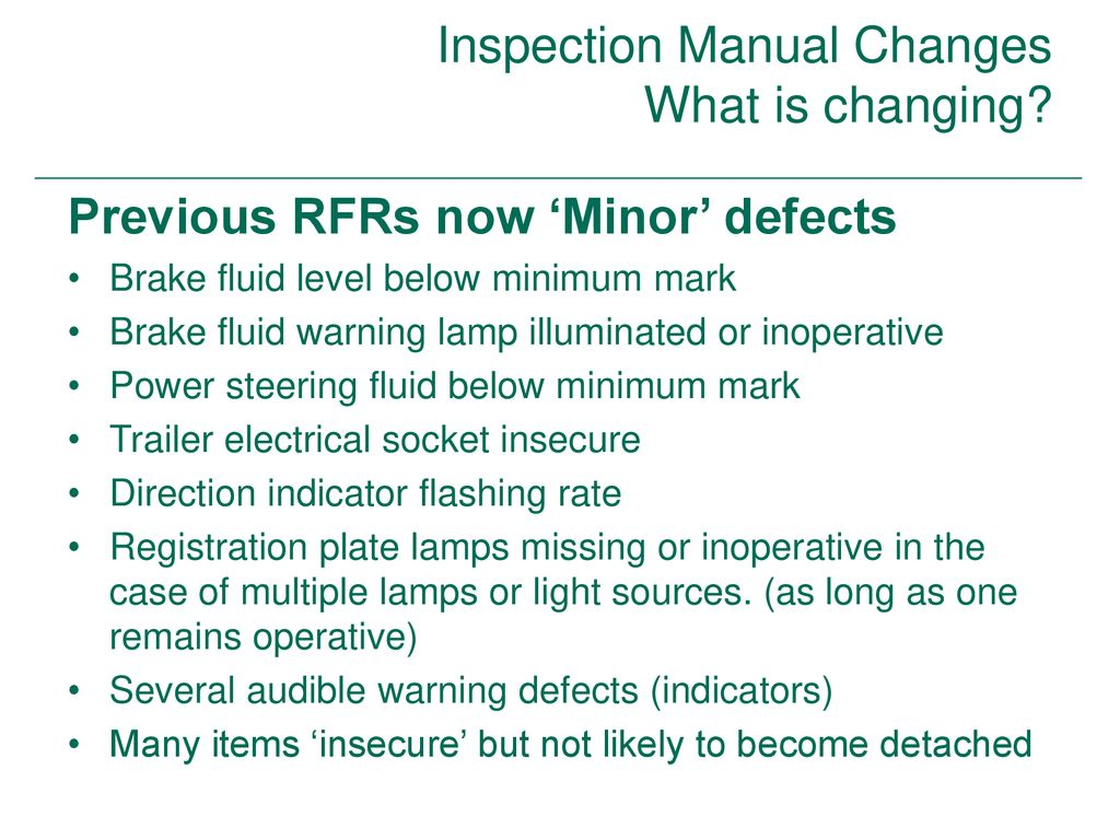 Inspection Manual Changes What is changing? - ppt download