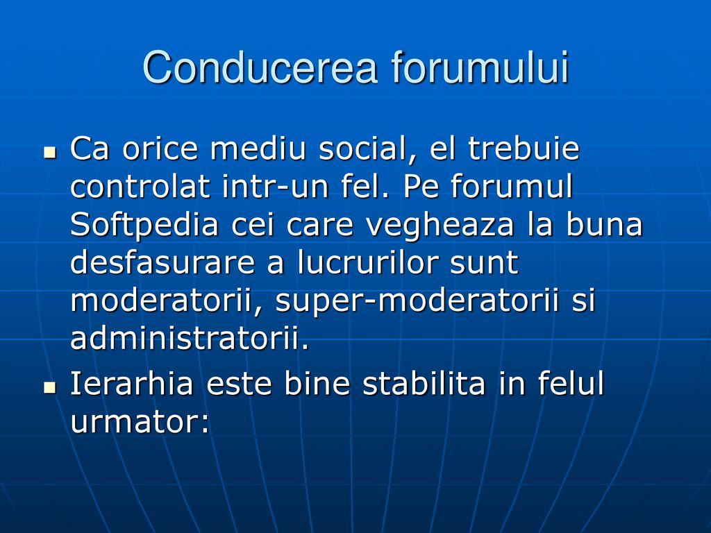Forumul de intalnire a site- ului)