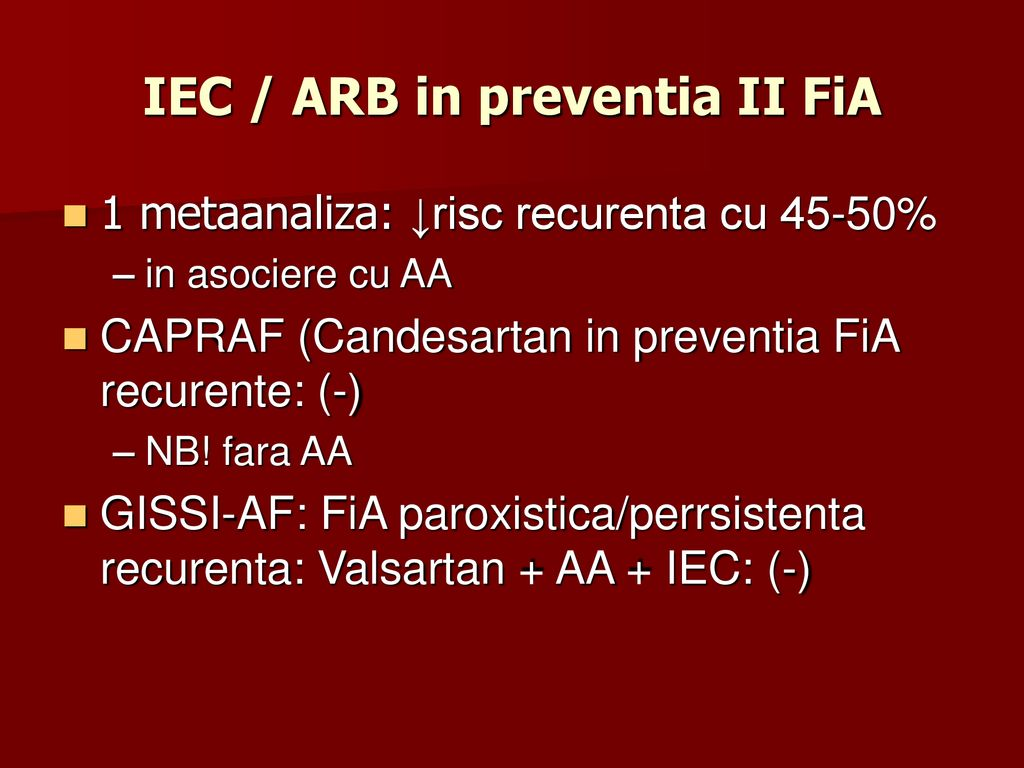 IEC / ARB in preventia II FiA