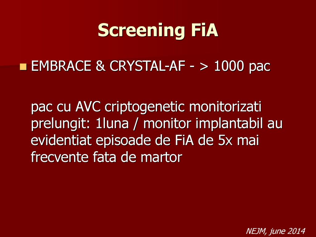 Screening FiA EMBRACE & CRYSTAL-AF - > 1000 pac