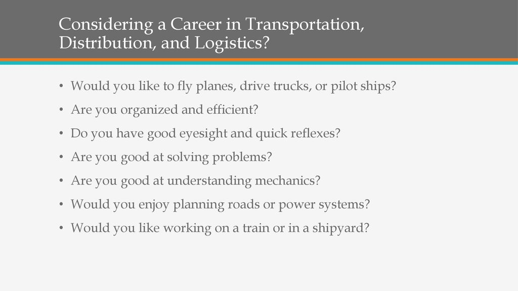 Transportation, Distribution, and Logistics - ppt download