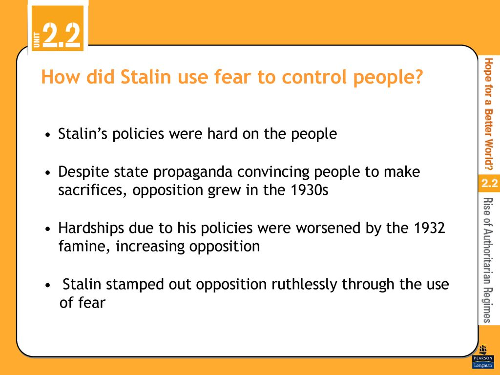 how did stalin use propaganda to control his people