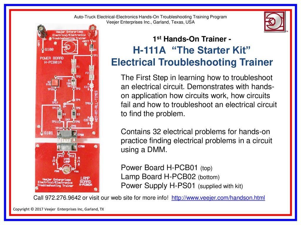 Vehicle Electrical Electronics Troubleshooting Training Program Circuit Basic 4 22 Trainer