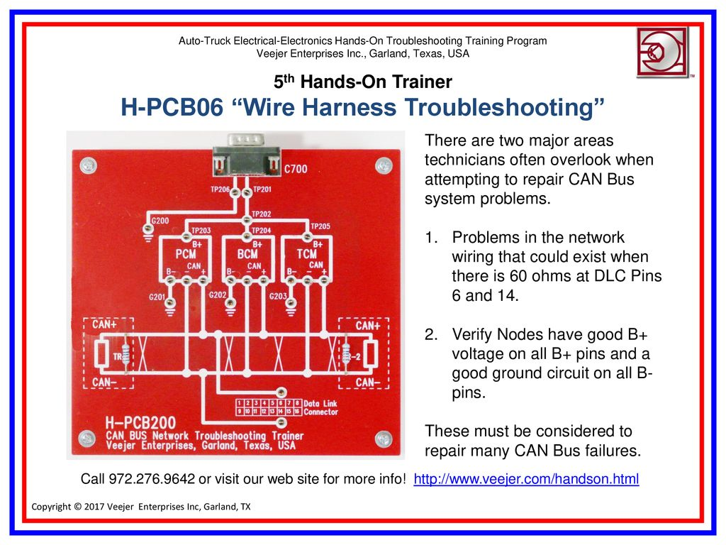 5th Hands-On Trainer H-PCB06 Wire Harness Troubleshooting