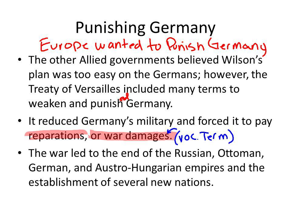 Punishing Germany