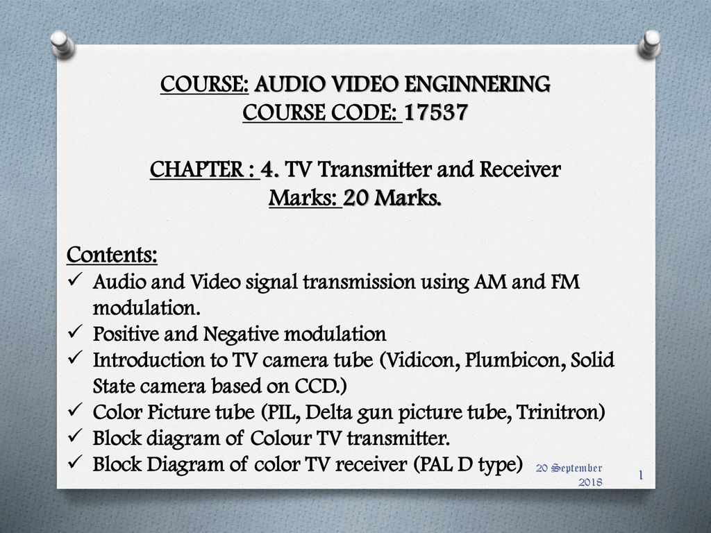 Course Audio Video Enginnering Code Ppt Download This Transmitter Is Basic But Allows Transmission Of To An Am