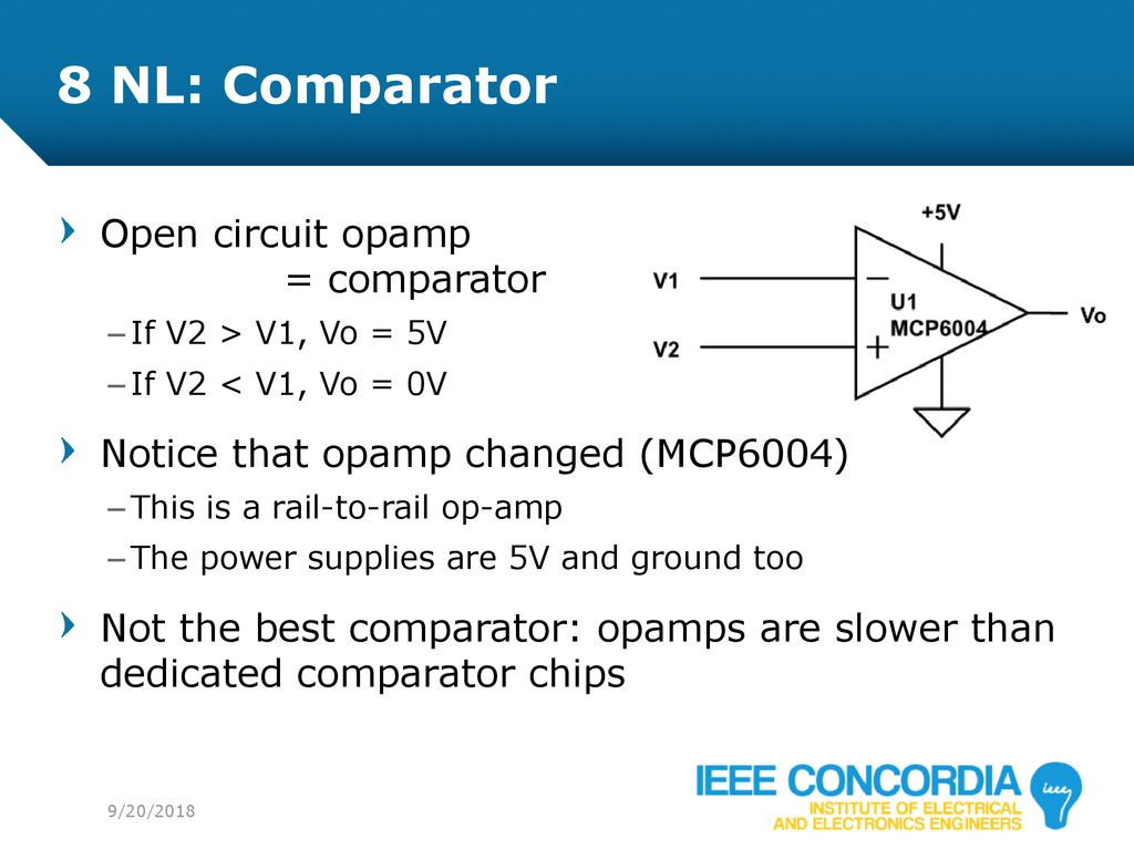 Intro To Analog Audio Electronics Ppt Download Op Amp Comparator Circuits 8 Nl Open Circuit Opamp