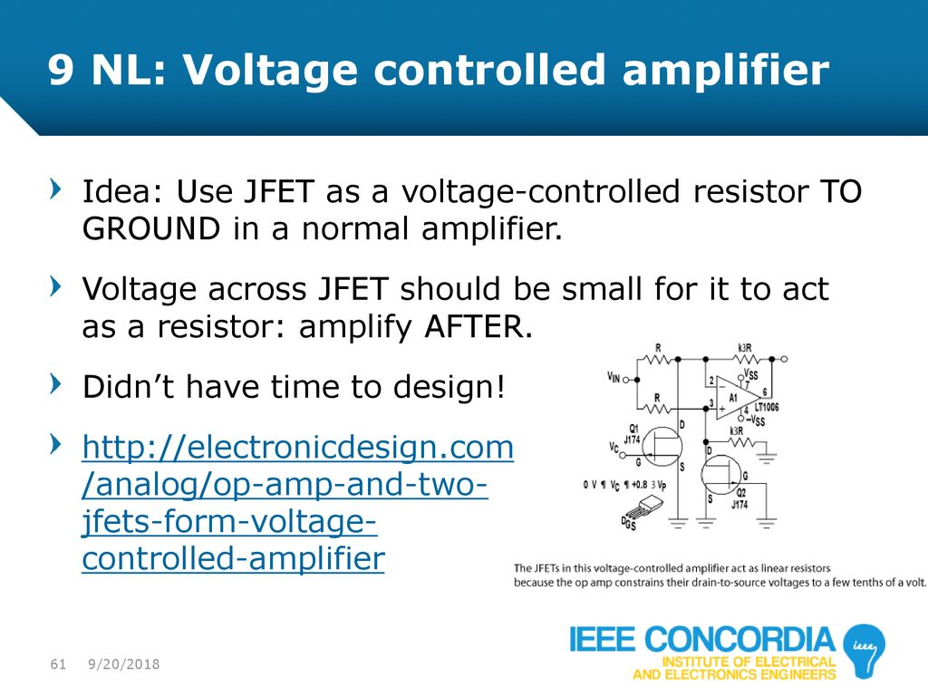 Intro To Analog Audio Electronics Ppt Download Voltage Divider Virtual Earth Circuit 9 Nl Controlled Amplifier