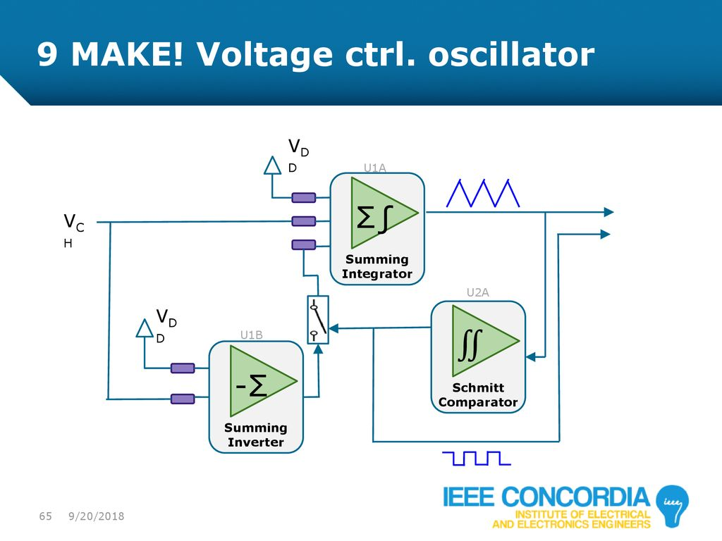 Intro To Analog Audio Electronics Ppt Download Making Huge Change In Frequency Of Oscillator Schmitt Trigger Opamp 9 Make Voltage Ctrl