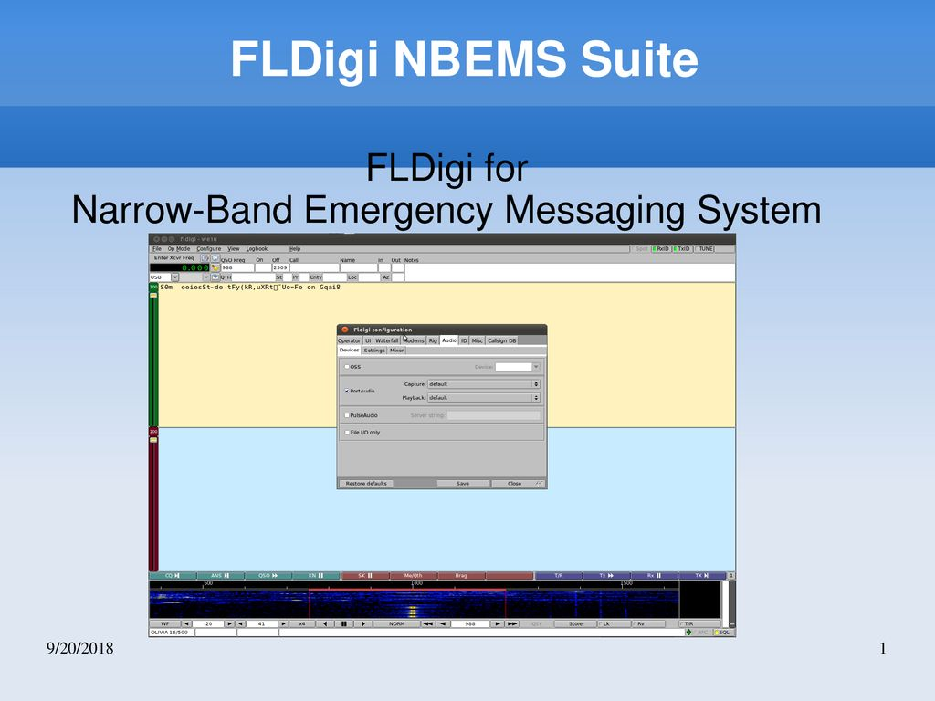 FLDigi for Narrow-Band Emergency Messaging System - ppt download