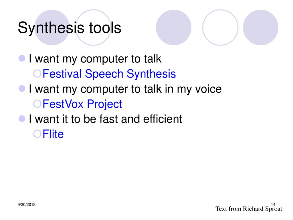 Speech Processing Text to Speech Synthesis - ppt download