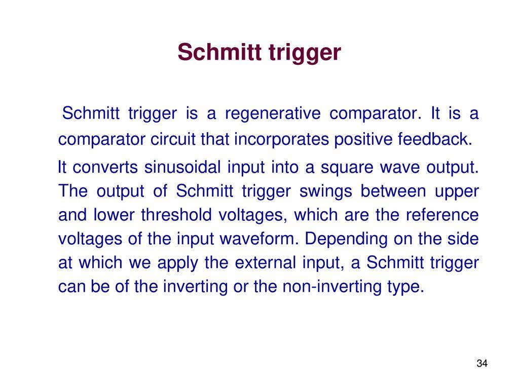 Elec207 Linear Integrated Circuits Ppt Download Triangular Waveform Using Schmitt Trigger 34