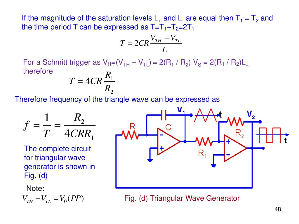 Elec207 Linear Integrated Circuits Ppt Download Triangular Wave Generator 48 The