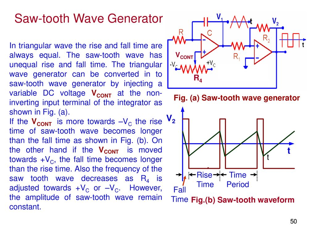 Elec207 Linear Integrated Circuits Ppt Download Triangular Waveform Using Schmitt Trigger Saw Tooth Wave Generator
