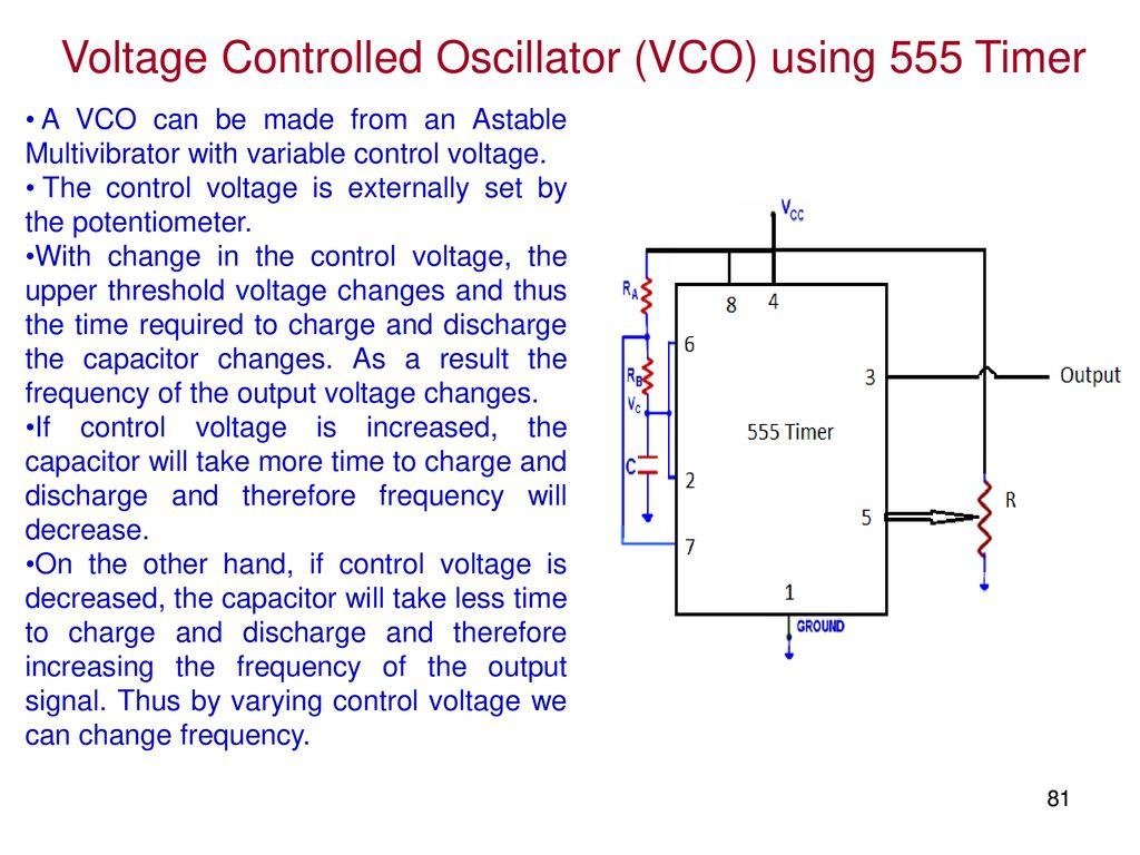 Elec207 Linear Integrated Circuits Ppt Download 741 Astable Timer Voltage Controlled Oscillator Vco Using 555