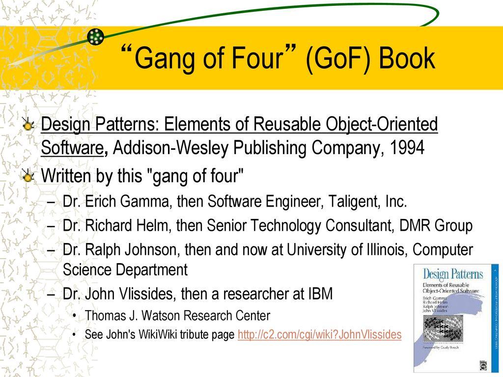 Gang Of 4 Design Patterns Custom Inspiration Design