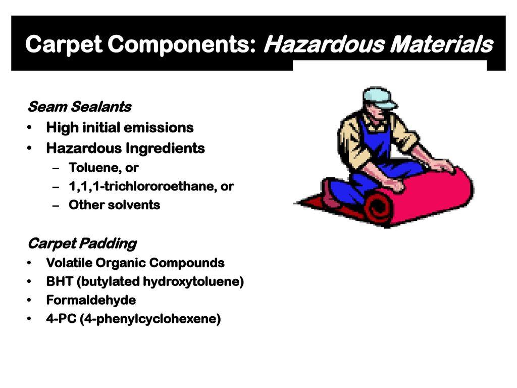 60 Carpet Components Hazardous Materials