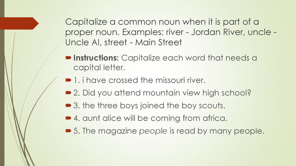 Grammar Mechanics Capitalization Ppt Download