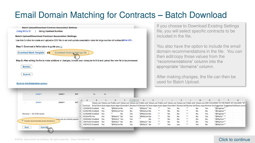 Domain Matching for Contract Association Requests - ppt download