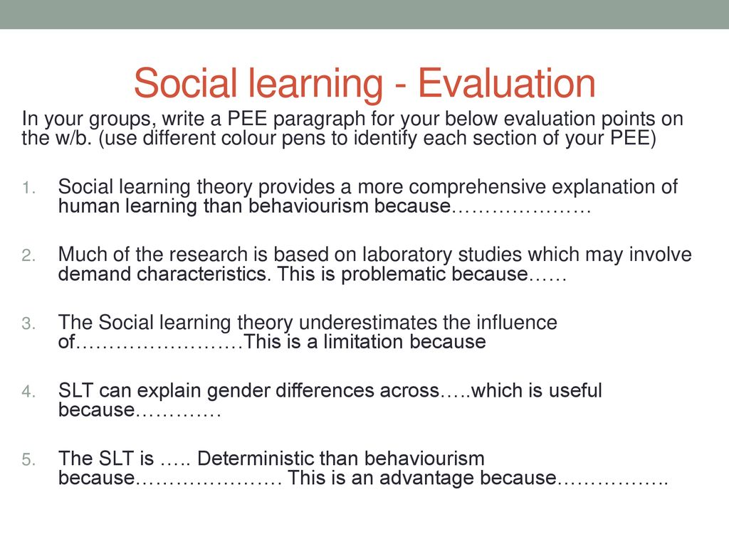 social learning theory research studies