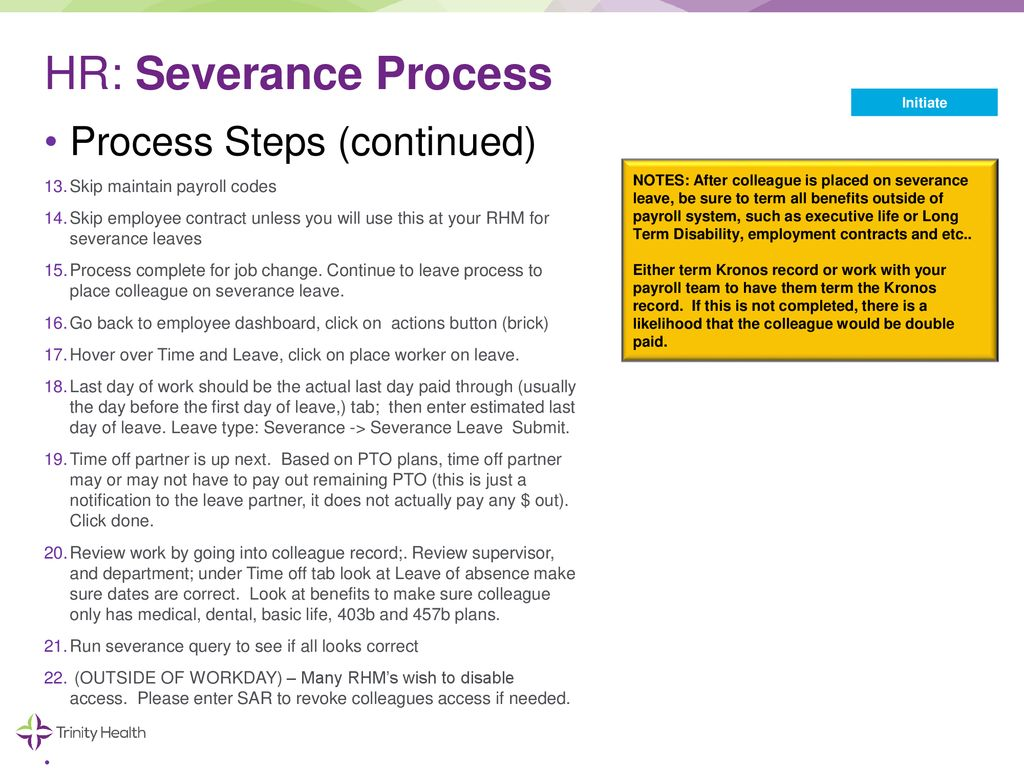 Workday – Severance Job Aid - ppt download