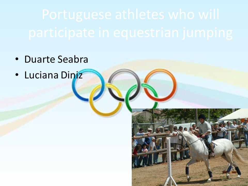 Portuguese athletes who will participate in equestrian jumping