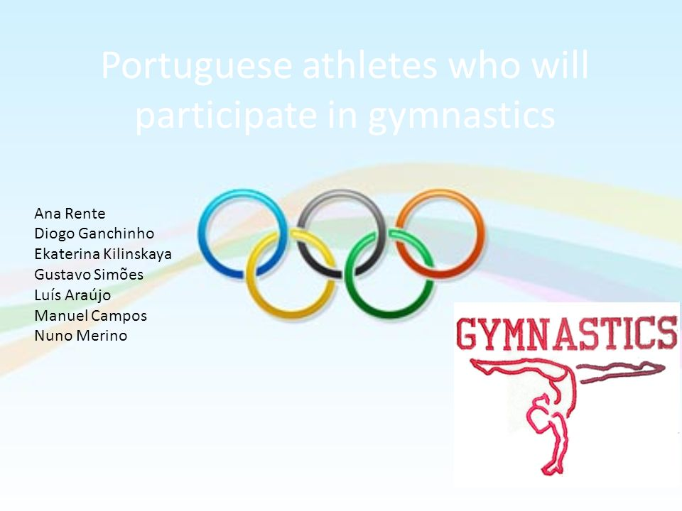 Portuguese athletes who will participate in gymnastics