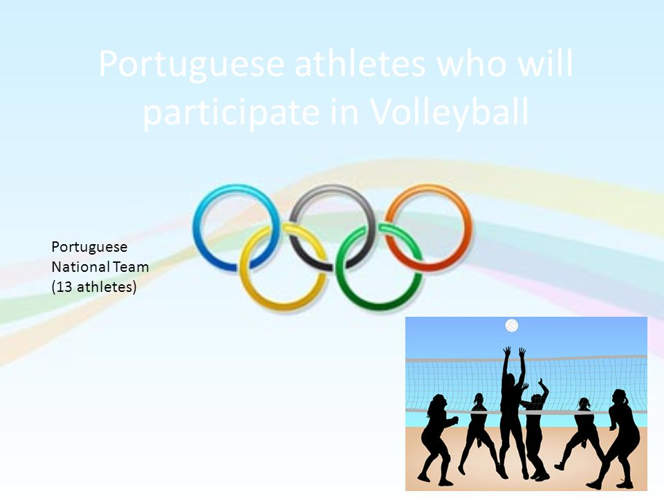 Portuguese athletes who will participate in Volleyball
