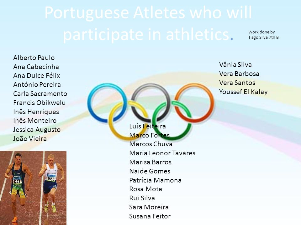 Portuguese Atletes who will participate in athletics.