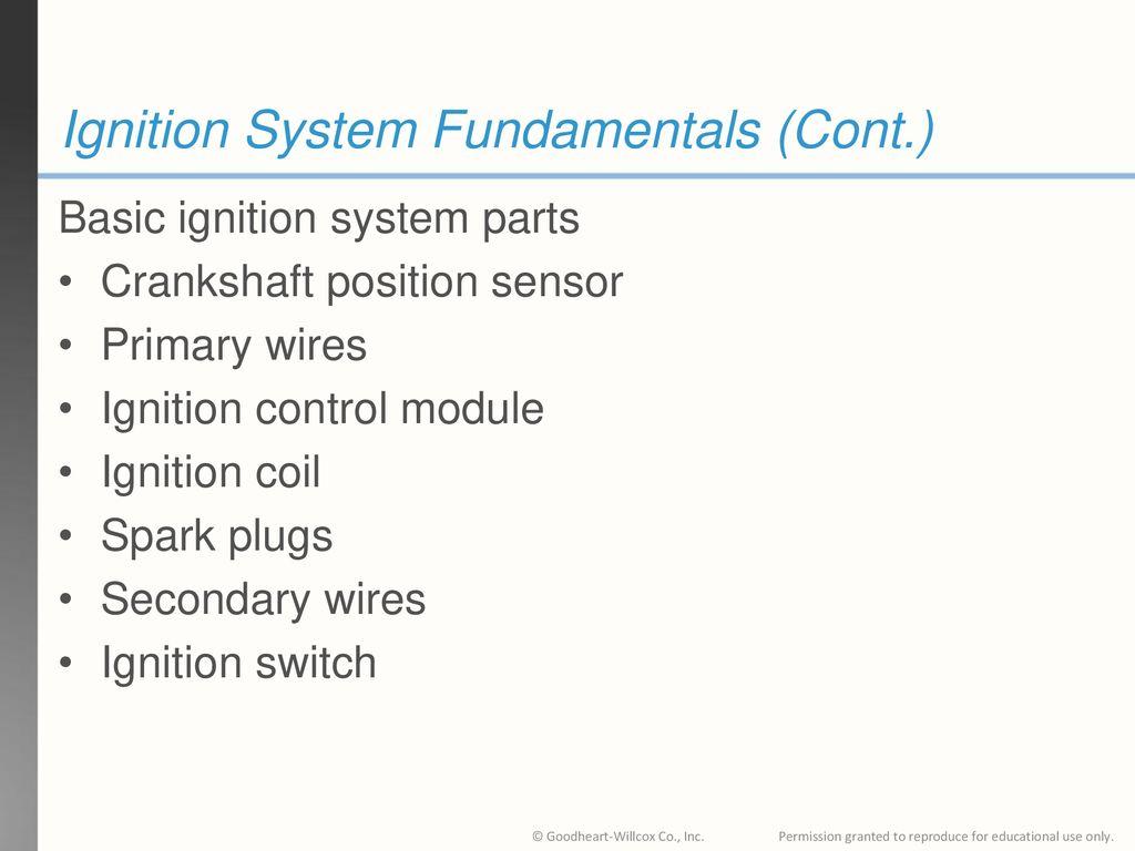 7 Ignition System Fundamentals ...