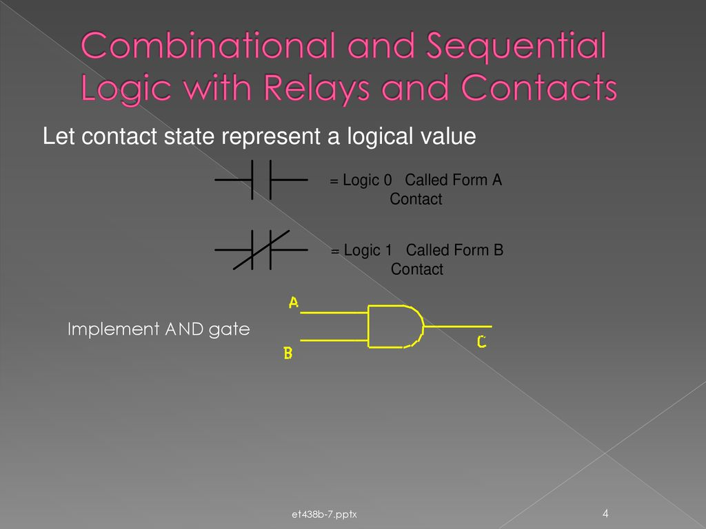 Et 438b Sequential Control And Data Acquisition Ppt Download Relay Logic Diagram Of Xor Gate Combinational With Relays Contacts