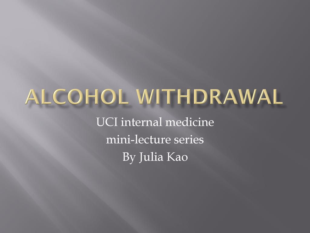 UCI internal medicine mini-lecture series By Julia Kao - ppt